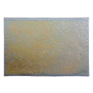 Textured Metal Look Silver and Gold Sleek Chic Cloth Placemat