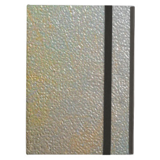 Textured Metal Shiny Silver and Gold Sleek Chic iPad Air Cover