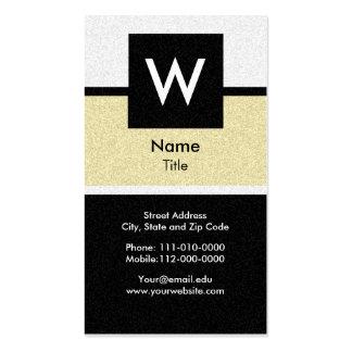 Textured Modern Monogram Business Card