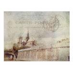 Textured Notre Dame Postcard
