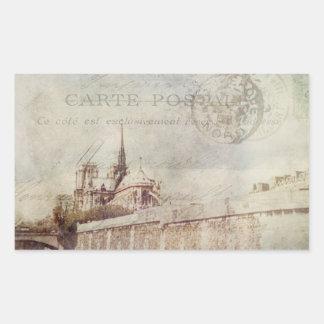 Textured Notre Dame Rectangular Sticker