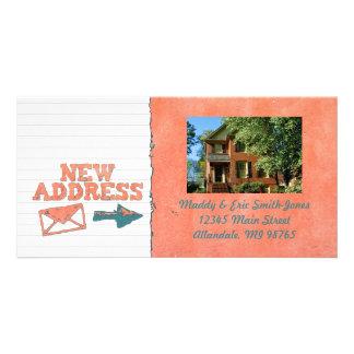 change of address photo cards change of address photo With custom new address cards