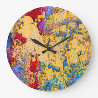 Textured Paint Large Clock