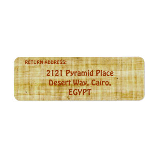 TEXTURED PAPYRUS BACKGROUND Return Address Labels