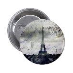 Textured Paris in Lavender 2 Inch Round Button