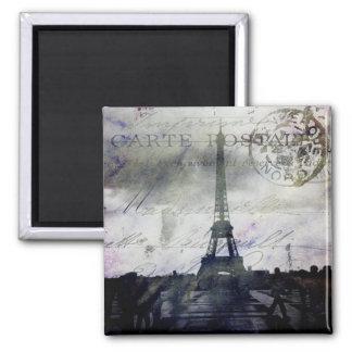 Textured Paris in Lavender 2 Inch Square Magnet