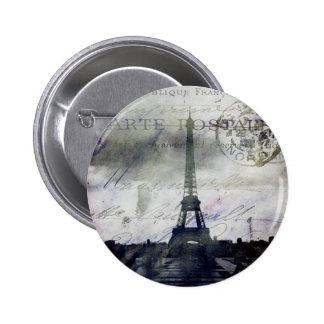 Textured Paris in Lavender Pinback Button