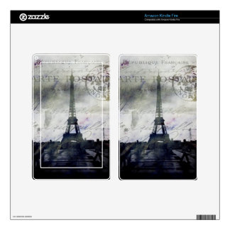 Textured Paris in Lavender Skins For Kindle Fire