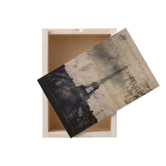 Textured Paris in Lavender Wooden Keepsake Box