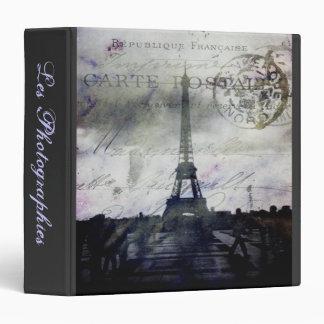 """Textured Paris Les Photographies 1.5"""" Photo Album 3 Ring Binder"""