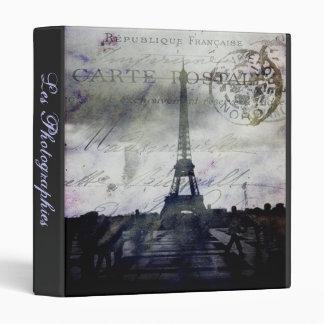 """Textured Paris Les Photographies 1"""" Photo Album 3 Ring Binder"""