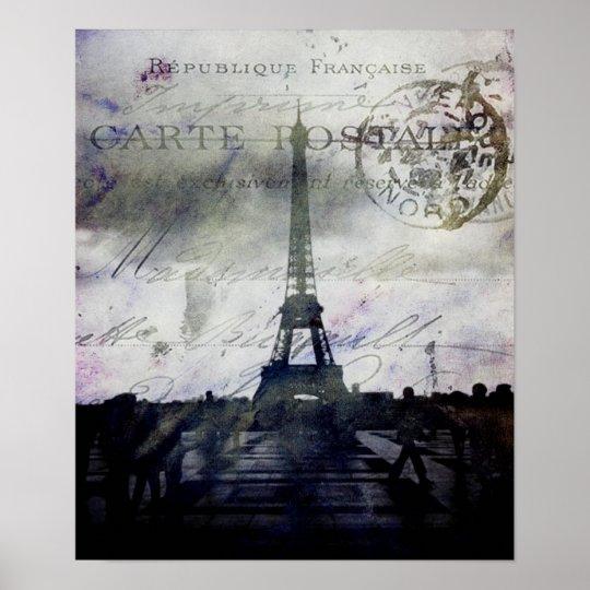 Textured Paris Poster