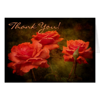 Textured Peach Colored Roses Note Card