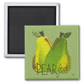 Textured Pears (tiled) Magnet