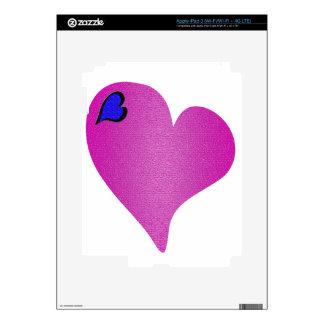 Textured Pink Heart iPad 3 Decal