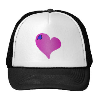 Textured Pink Heart Trucker Hat