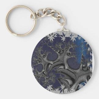 Textured Plastic Flower Fractal Keychain