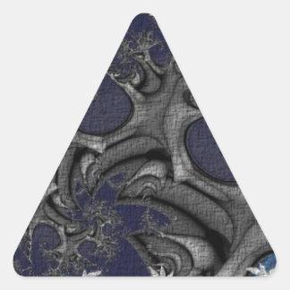 Textured Plastic Flower Fractal Triangle Sticker