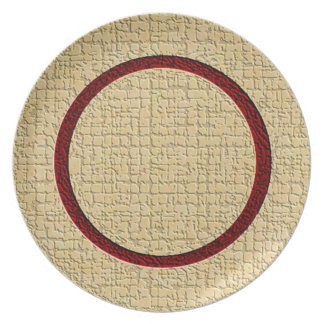 Textured Plate (cranberry/gold)