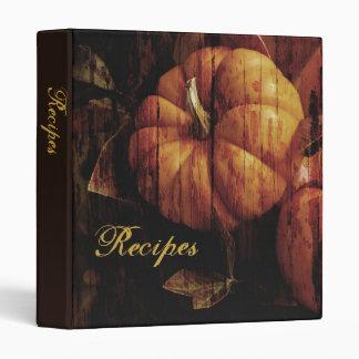 "Textured Pumpkin 1"" Recipe Binder"