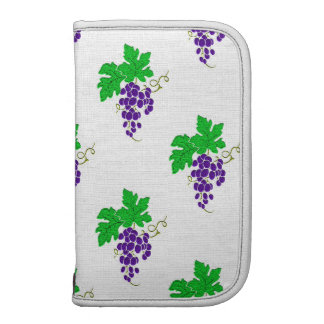Textured Purple Grapes and Leaves Pattern Organizer