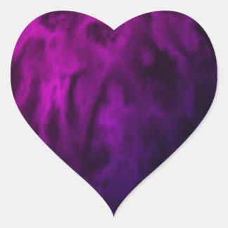 Textured Purple Sphere Heart Sticker