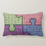 Textured PuZzLe PiEcEs Pillow