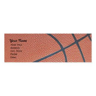 _textured_r del baloncesto, w, red del aro de b fl tarjeta personal
