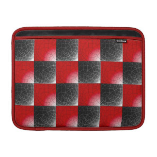 Textured red and black checkerboard MacBook air sleeves
