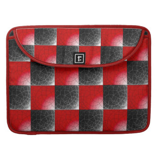 Textured red and black checkerboard MacBook pro sleeves
