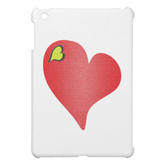 Textured Red Heart Case For The iPad Mini