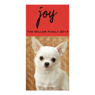 Textured Red Pet Chalkboard Photocard Photo Card