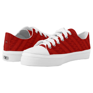 Textured Red Stripes Monograms Printed Shoes