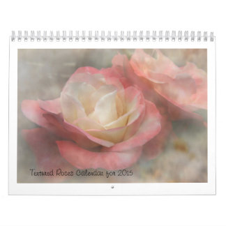 Textured Roses Calendar for 2015
