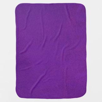 Textured Royal Purple Receiving Blanket
