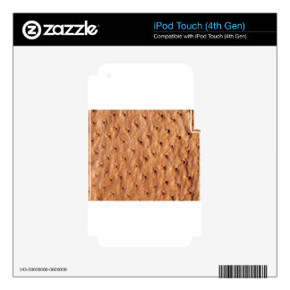 Textured shin skins for iPod touch 4G