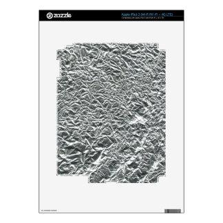 TEXTURED SILVER FOIL46 FOIL CRINKELED SHINY BACKGR iPad 3 DECAL