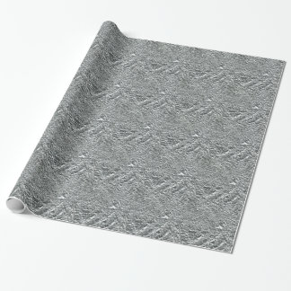 TEXTURED SILVER FOIL46 FOIL CRINKELED SHINY BACKGR WRAPPING PAPER