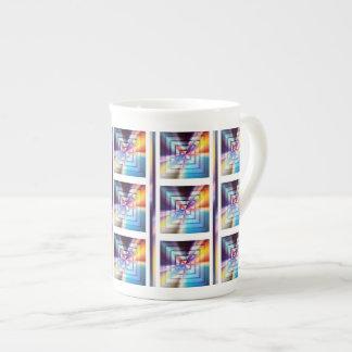 Textured Square Porcelain Mug