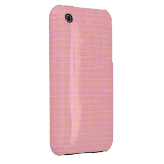 Textured Squares Blushing Meadow Case-Mate iPhone 3 Case