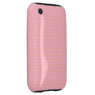 Textured Squares Blushing Meadow iPhone 3 Tough Case