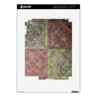 Textured Squares iPad 3 Decals