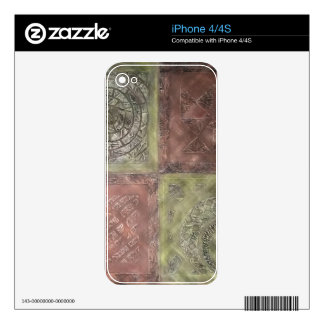 Textured Squares iPhone 4 Skins