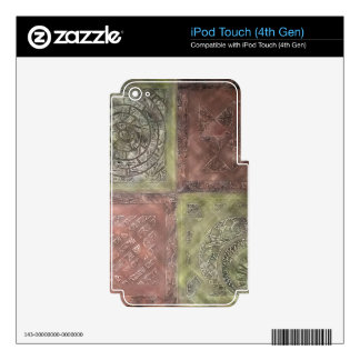 Textured Squares iPod Touch 4G Skins
