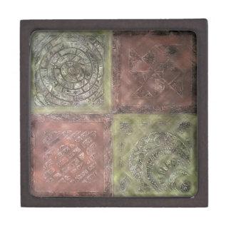 Textured Squares Jewelry Box
