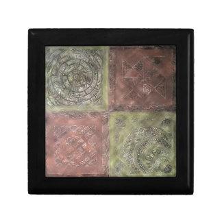 Textured Squares Keepsake Box