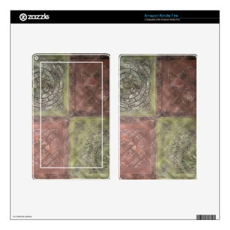Textured Squares Kindle Fire Decal