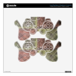 Textured Squares PS3 Controller Skins