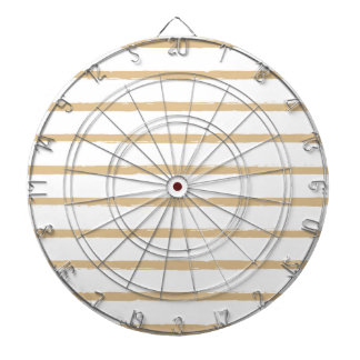 Textured Stripes Beige White  Rough Lines Pattern Dart Board
