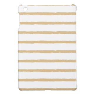 Textured Stripes Beige White  Rough Lines Pattern iPad Mini Case